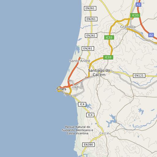melides mapa Parque Natural do Sudoeste Alentejano e Costa Vicentina | melides mapa
